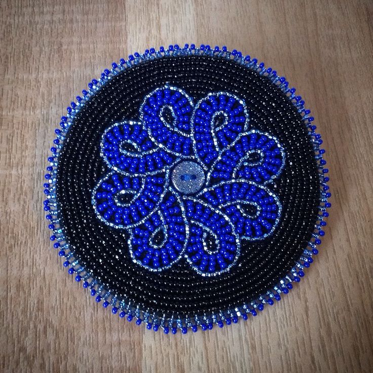 Fully beaded hair barrette that I made... I love the colors!!!