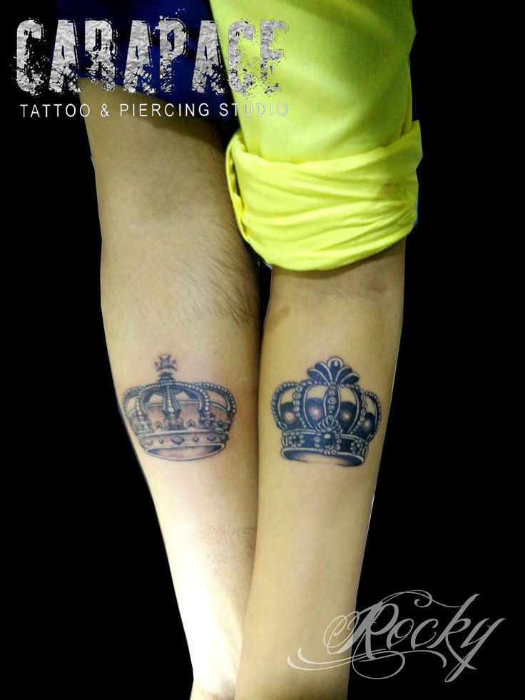 #couplecrown #crowntattoo #carapace #tattoo #rockyhela