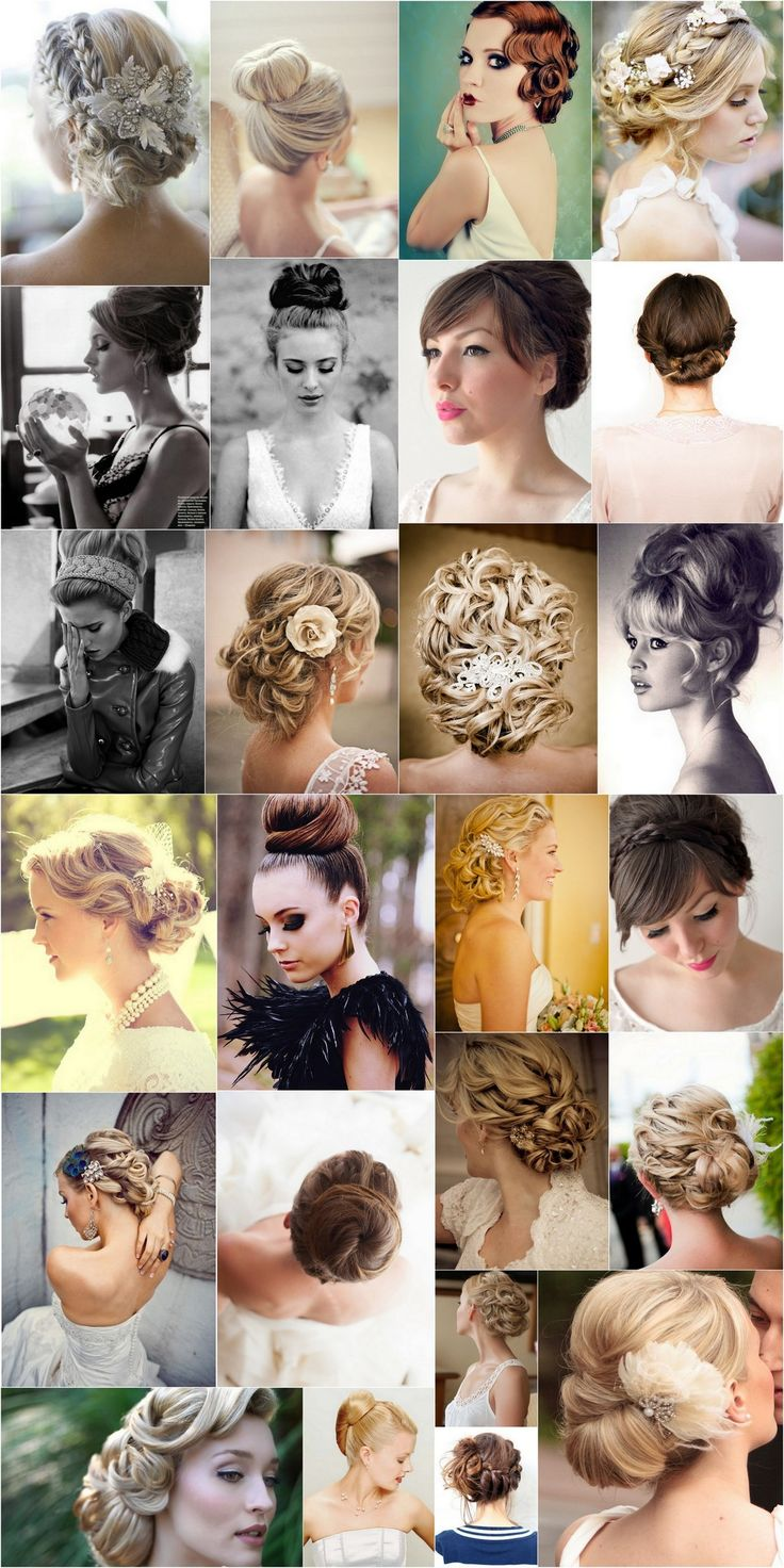 Bridal Hair - 25 Wedding Upstyles & Updo's - Our collection of inspirational bridal upstyles! #hair #style #upstyle #updo #wedding