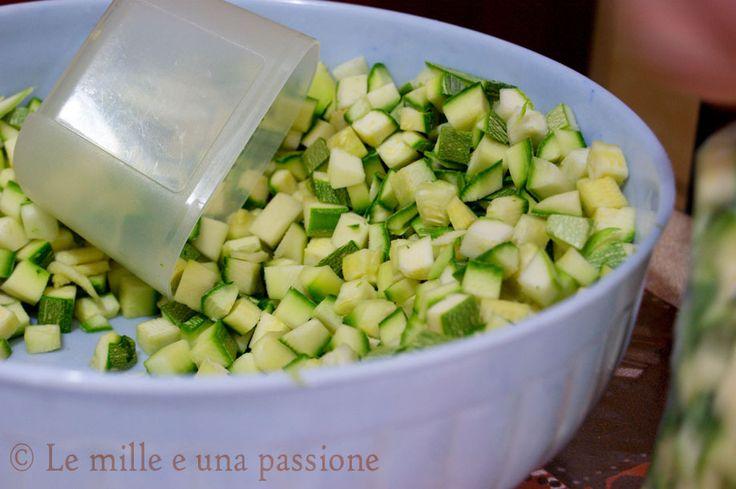 Zucchine dentro il contenitore