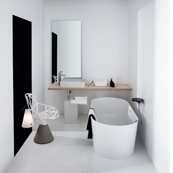 Collection Val | LAUFEN Vasques et plateaux de toilette en SaphirKeramik dessinés par Konstantin Grcic