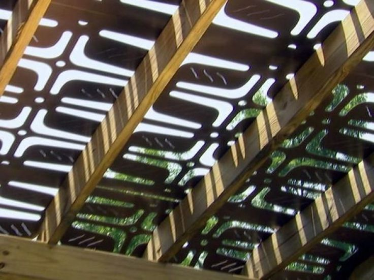 Laser cut shade structure