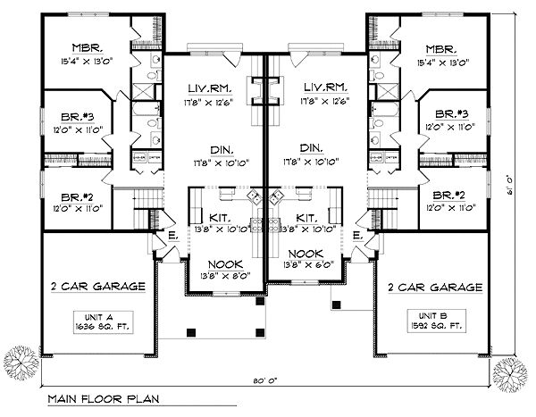 24 best duplex plans images on pinterest duplex floor for Unique duplex plans