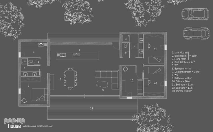 Plan d'ensemble de la Pop-Up House