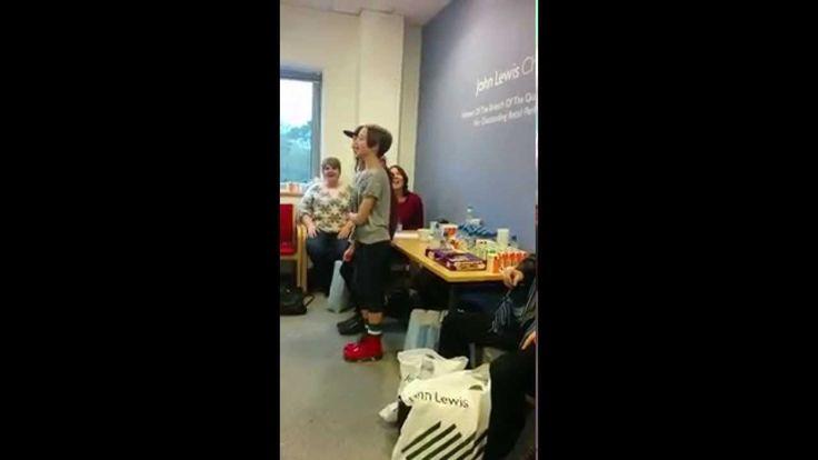 John Lewis Singing Flashmob Rehearsal