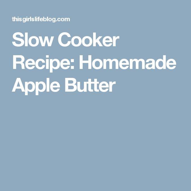 Slow Cooker Recipe: Homemade Apple Butter