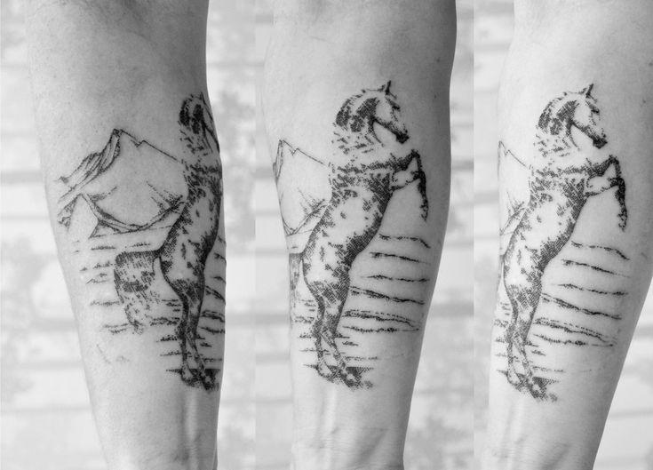 #tattoo #horse #horsetattoo #dotwork