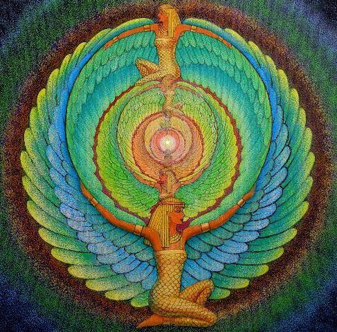 ISIS Diosa de Egipto de Alas Mágicas - Arte Espiritual