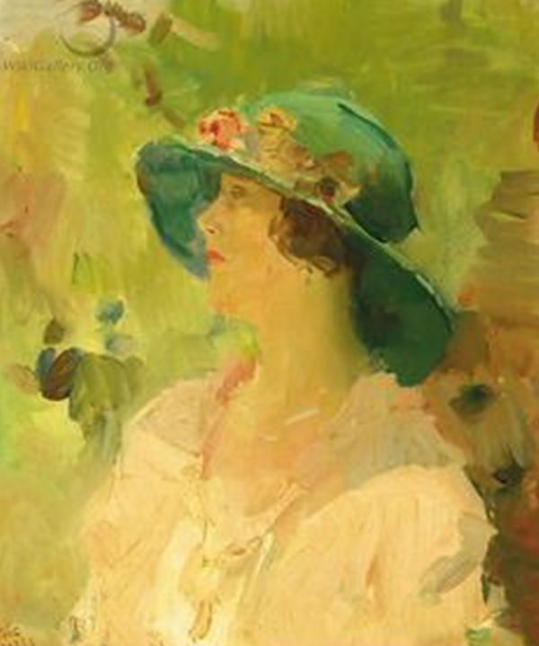 Lady With A Green Hat Isaac Lazarus Israëls (Dutch 1865-1934)