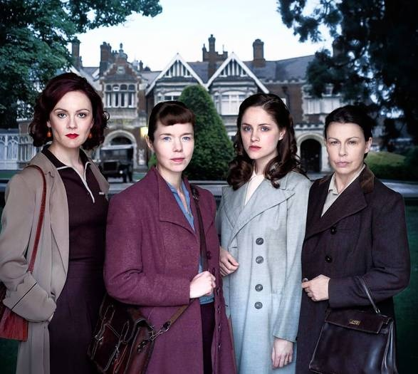 BLETCHLEY CIRCLE A new miniseries premiers tonight on PBS @ 10pm in my area. Set in Britain in 1952, this review says its supposed to be smart and highly suspenseful. I have already set my DVR. When the sisterhood of four detectives gets together to discuss a case, it is under the cover of a book club. I like it already!!!