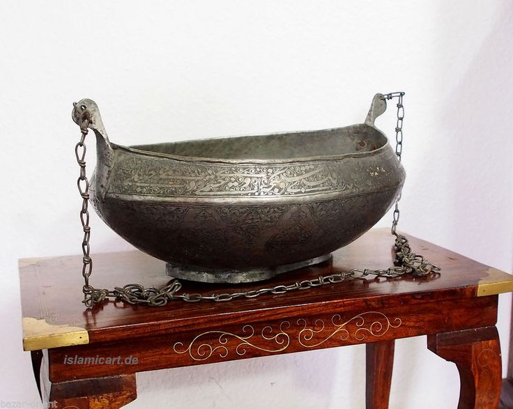 riesig antik Islamic afghan Dervash Bettelschale Kashkul Kashkool Begging Bowl L