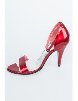 Sandale rosii din piele naturala, Simona Oprea/red sandals