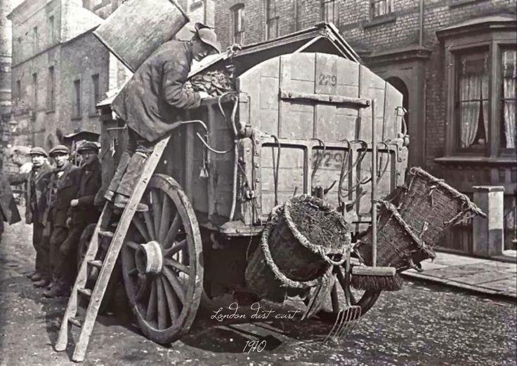 London dust cart, 1910