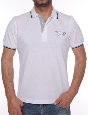 Hugo Boss polo maxilogo | blanco | TALLA L