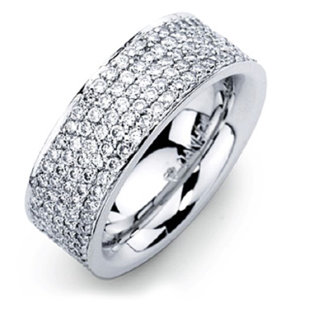 I LOVE thick wedding bands! Exactly what I want!!!!