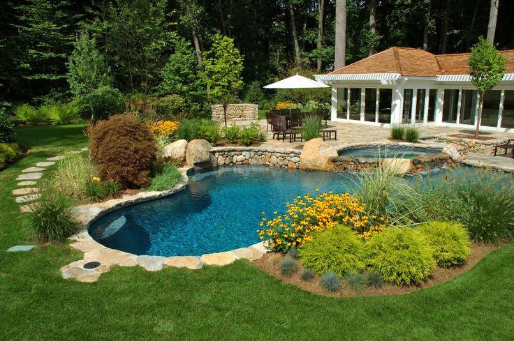 Backyard Pool | backyard pool view to house