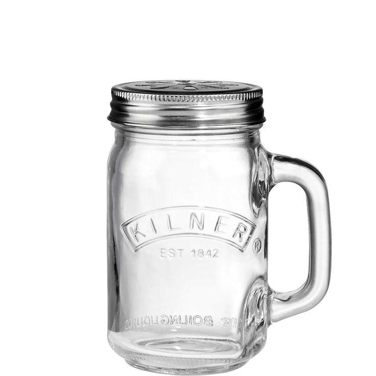 Ob kühles Bier oder warmer Punsch - im einzigartigen Kilner-Trinkglas mit Deckel servieren Sie jedes Getränk mit einem ordentlichen Schuss Originalität.