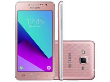 """Smartphone Samsung Galaxy J2 Prime TV 8GB Rosa - Dual Chip 4G Câm. 8MP + Selfie 5MP Tela 5"""" qHD TOP OFERTA DO DIA!!! de R$ 799,00 por R$ 719,90   em até 7x de R$ 102,84 sem juros no cartão de crédito  ou R$ 647,91 à vista (10% Desc. já calculado.)"""