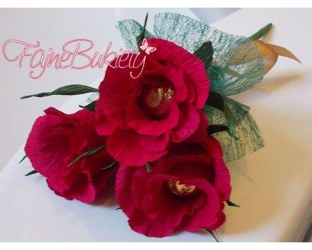 3 Słodkie Róże (105) - Patoka | Fajne Bukiety