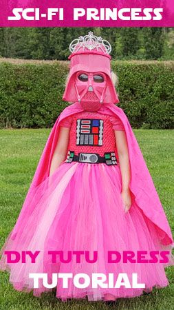 Princess Vader Costume DIY - How to make a Pink Darth Vader Tutu Dress!