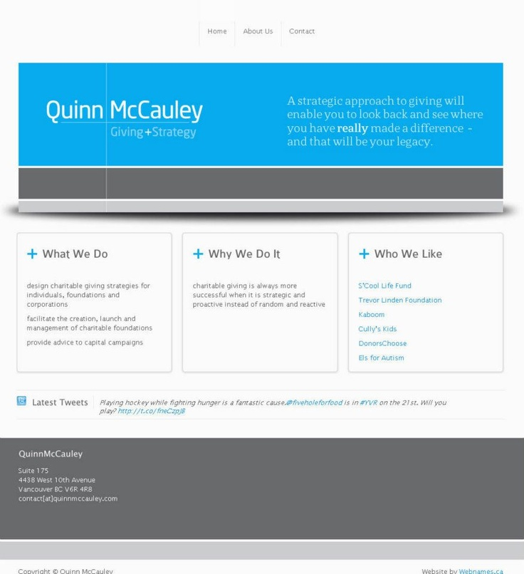 See the full website at www.quinnmccauley.com