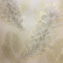 Arthouse Sirius Feather Wallpaper Gold 673603