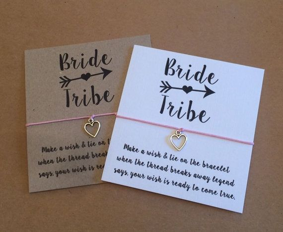 Wish String Bracelet Bride Tribe Wedding Favor by Hailthenails