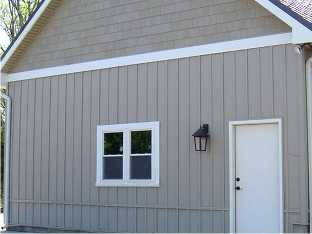 Haven® Insulated Siding, Board And Batten In Sand