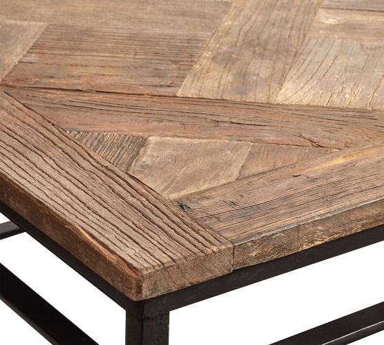 Parquet Reclaimed Wood Rectangular Coffee Table ...