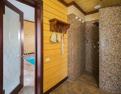 Проект бани из клеёного бруса в поселке Гавриково, МО. Больше информации и фотографий на сайте ital.ru