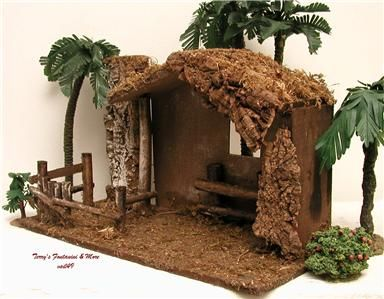 "make a nativity stable photos | ... ITALY 5"" RETIRED ITALIAN TRADITIONAL STABLE NATIVITY CRECHE 54557 MIB"