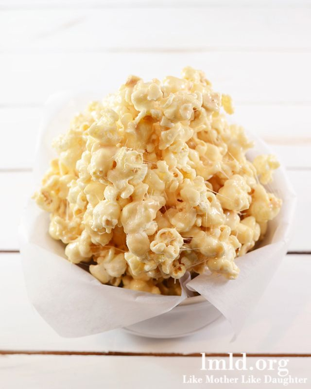 seriously, I don't eat a lot of junk food, but whoaaah!!!  marshmallow caramel popcorn