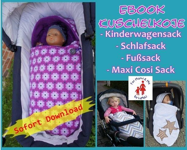 Ebook Kuschelkoje Kinderwagensack Schlafsack von For Mami & Me  auf DaWanda.com
