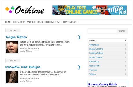 Orihime merupakan template blogger terbaru dari IdBlogDesign yang dikhususkan bagi Anda pemain Google Adsense.