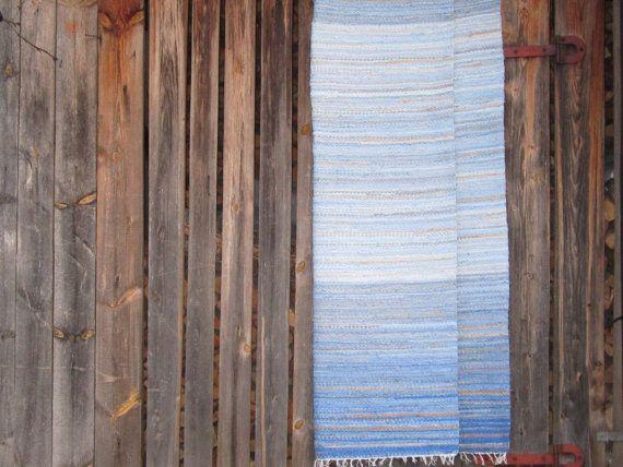Handwoven Scandinavian style area rag rug beach'' by Gunaspalete