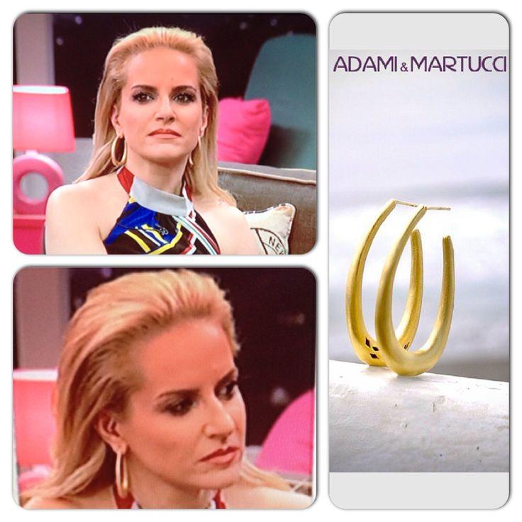 Maria Mpekatorou with Adami&Martucci earrings!!!!!