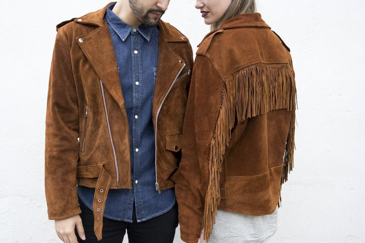 Bonnie and Clyde. Loving the new fringed suede Asos reclaimed vintage jacket!   http://asos.do/TNlFJ1