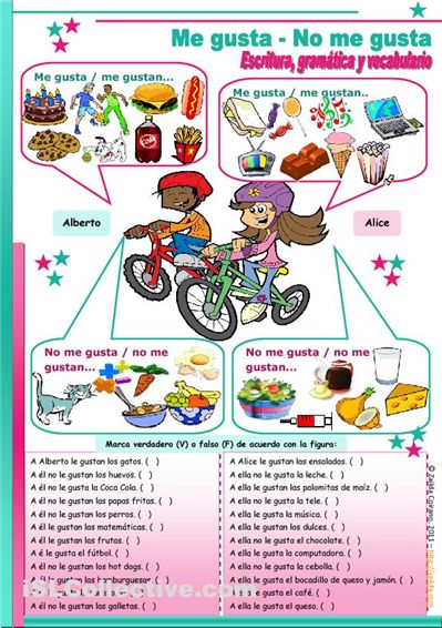 Me gusta no me gusta - cute activity to get kids talking, reading and writing