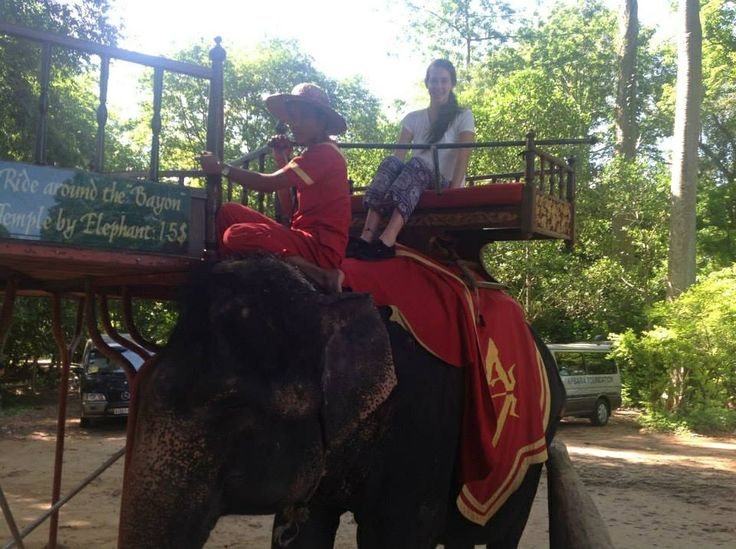 The Elephant ride around the ancient ruins in Cambodia was amazing!