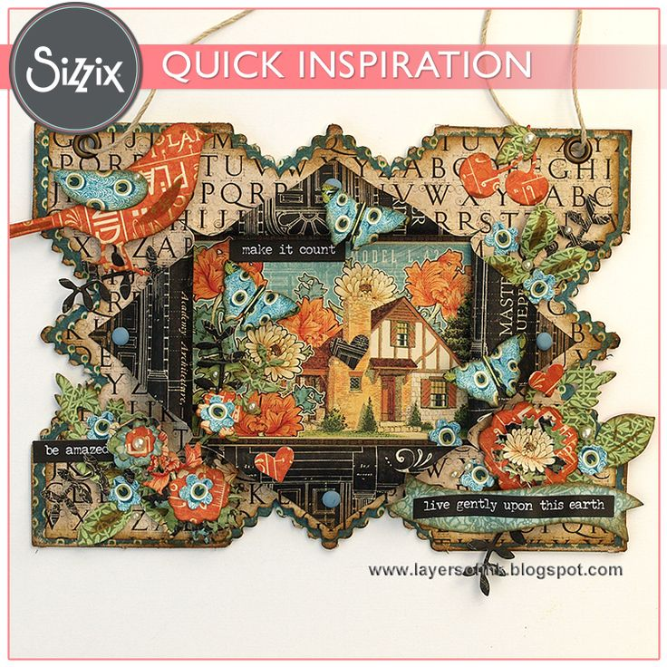 Sizzix Inspiration | Make It Count Wall-Hanging by Anna-Karin Evaldsson