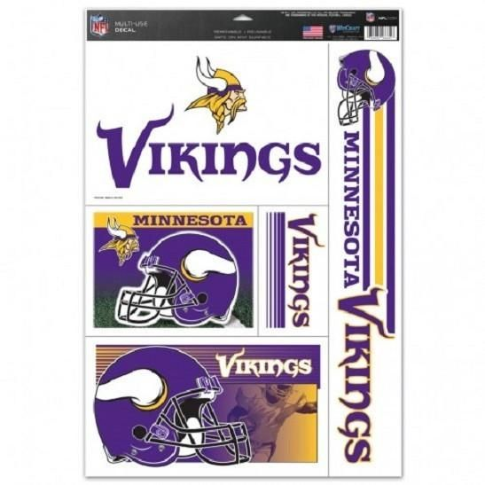 NFL Minnesota Vikings Ultra Decals Set of 5 By WINCRAFT