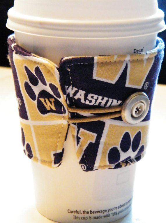 Warmin' up with the Univeristy of Washington Huskies Coffee Cozy