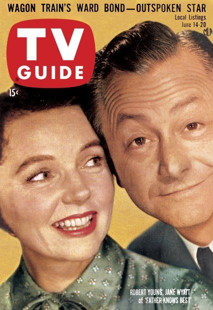 "TV Guide, June 14, 1958 - Robert Young and Jane Wyatt of ""Father Knows Best"""