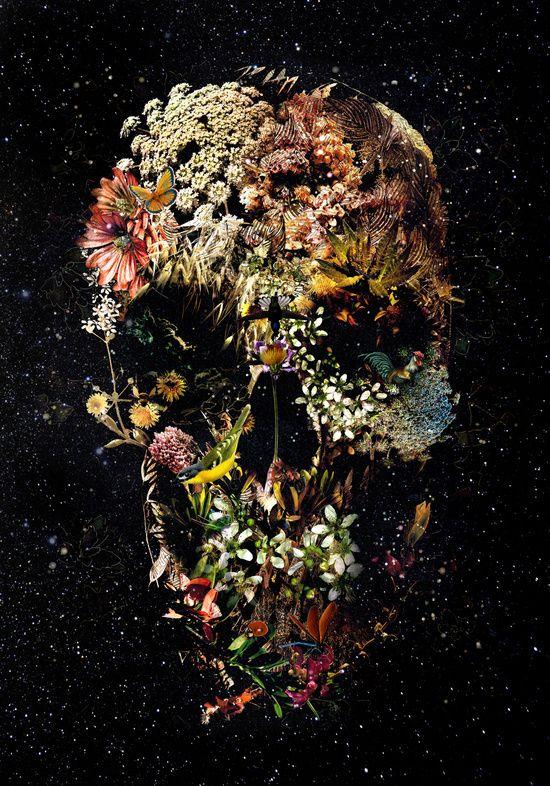 нас фотографии череп с цветами боже, как трудно