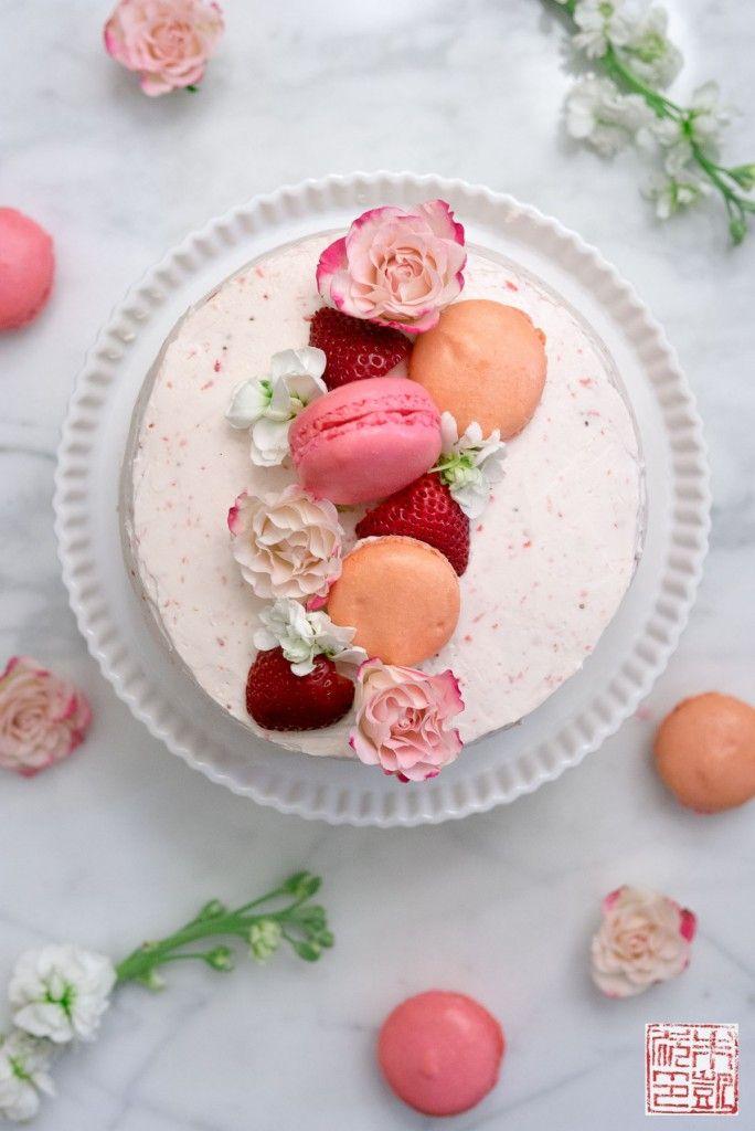 Happy Birthday to Me: Strawberry Pink Velvet Cake - Dessert First