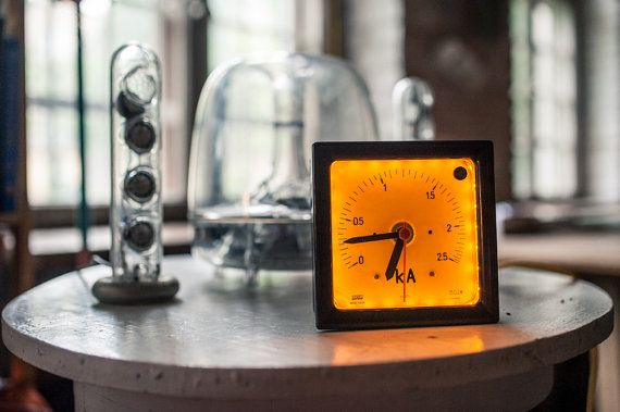 Upcycled clock with LED dimmable backlight by herywalery on Etsy