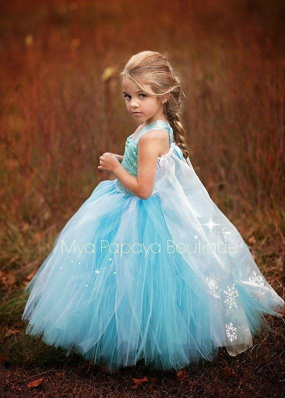 Elsa Frozen Tutu Dress Elsa Birthday by MyaPapayaBoutique on Etsy
