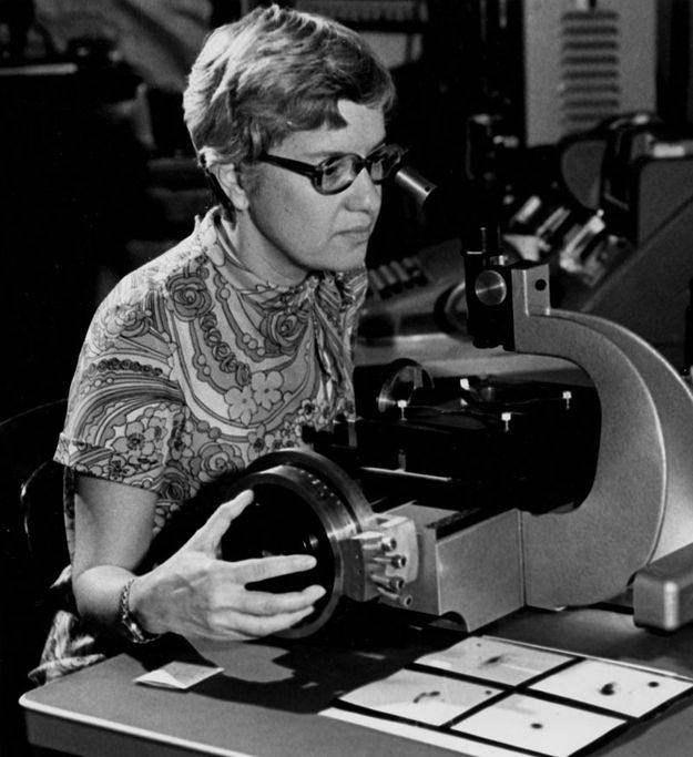 Vera Rubin (b. 1928) is an astronomer known for her work on galaxy rotation rates and dark matter. She has received numerous awards and medals and as of June 9, 2013, has co-authored 114 peer-reviewed research papers.