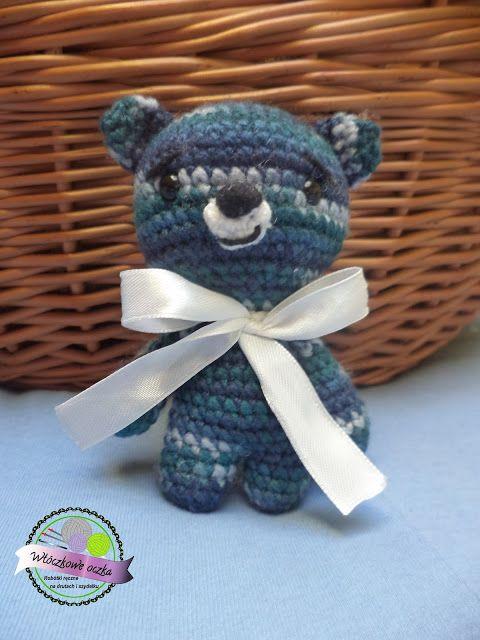 mały miś na szydełku amigurumi  little crochet bear