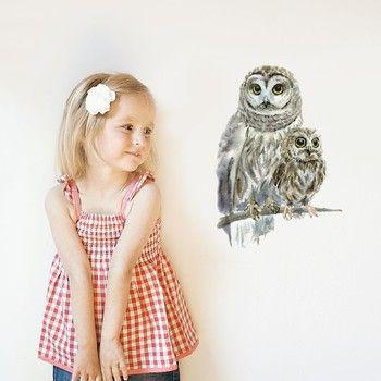 Znovu snímatelná samolepka Woodland Owls | Bonami